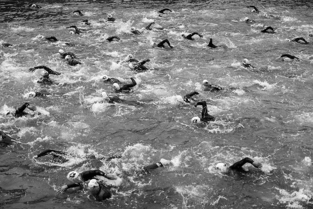 Segmento de natación en triatlón